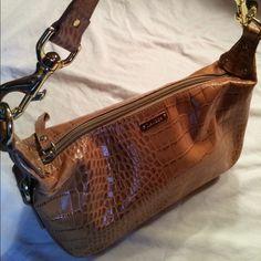 Ralph Lauren Tan Leather Handbag Great Condition. Measures about 10 inches across. Monogrammed Hardware Ralph Lauren Bags Shoulder Bags