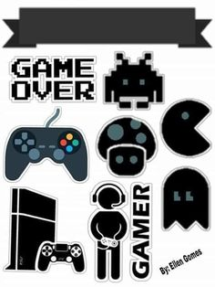 Playstation Cake, Imprimibles Halloween, Game Wallpaper Iphone, Best Gaming Wallpapers, Mother Art, Birthday Cards For Boys, Paper Cake, New Sticker, Note Paper