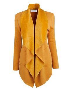 Ericdress Solid Color Pocket Loose Casual Coat