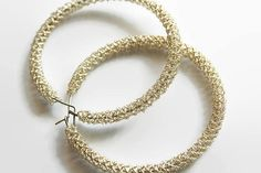 Shiny and elegant these hoops will not pas. Big Earrings, Silver Earrings, Hoop Earrings, Keep Jewelry, Heart Jewelry, Cleaning Silver Jewelry, Mens Silver Rings, 925 Silver, Wire Crochet