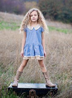Blu Pony Vintage Denim Star Sarah V. Dress
