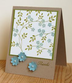 Stampin' Up ideas and supplies from Vicky at Crafting Clare's Paper Moments: Thank you using Hopeful Thoughts