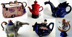 James Sadler British novelty teapots.  Love them!