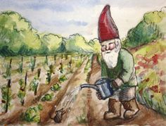 """""""Water the vegetables, not Mr. Mouse!""""  JollyGnome.com"""