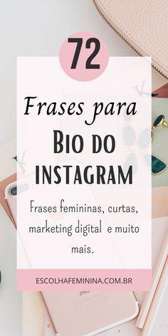 Bio Instagram, Bios Para Instagram, Instagram Story, Frases Marketing Digital, Digital Marketing Strategy, Social Marketing, Insta Bio, Instagram Influencer, Blog Tips
