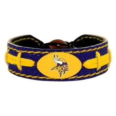 Vikings Leather Football Bracelet