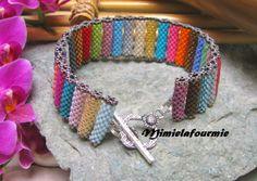 Bracelet Tubes Multicolore - Perle Miyuki - Tissage peyote