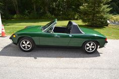Porsche : 914 Roadster/ I had this same color, I believe it was called zambezi green. Why did i ever get rid of it?