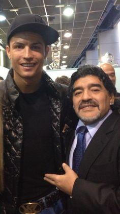 Twitter / Cristiano: Great fun with Maradona. ...