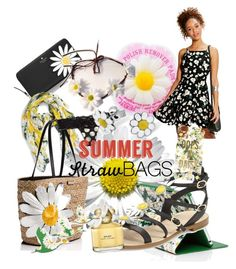 """""""oops a daisy straw bags"""" by summerrose-2 ❤ liked on Polyvore featuring Boohoo, Kate Spade, Marc Jacobs, Lisa Angel, Daisy and strawbags"""