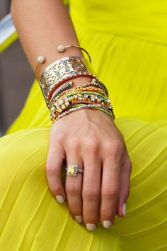 arm candy,,,,and i love the finger bling, too!