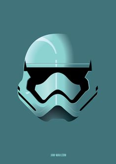 Stormtrooper helmet from Star Wars: Episode VII - The Force Awakens - by Jam-Wah
