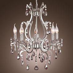 Lámpara Chandelier de Cristal con 5 Bombillas - LENOIR – EUR € 189.74