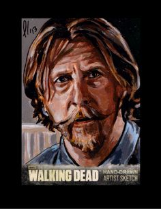 Walking Dead Season 3 Sketch Card Axel Lew Temple by LeeLightfoot.deviantart.com on @deviantART