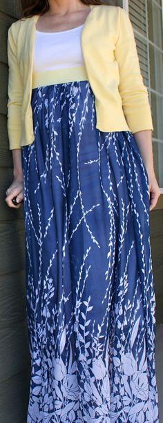 10 Fashionable DIY Maxi Skirts