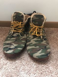 e9555a29e1ecd MENS SIZE 13-14 X-LARGE CAMO WORK BOOT SLIPPERS LINED - BRAND NEW #fashion  #clothing #shoes #accessories #mensshoes #slippers (ebay link)