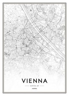 Vienna Map Poster in the group Posters & Prints / Maps & cities at Desenio AB Wall Poster, Poster Shop, City Map Poster, World Map Poster, Poster Prints, Map Posters, Poster 70x100, Denver Map, Denver Colorado