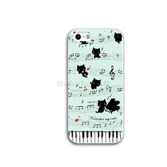 cute piano cat iphone 6 case iphone 6 plus case gift for her 5 5s cover 5c case phone cover iphone 4 4s case samsung galaxy S5 S 5 case