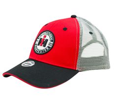 INTERNATIONAL HARVESTER BLACK CAP with silver accents