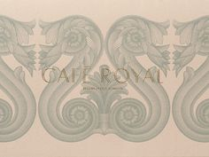 Café Royal redesigned by John Rushworth, Pentagram. The identity uses a set of illustrated architectural details, inspired by Regent Street and the hotel's historical interiors. Logo Design Love, Id Design, Royal Design, Graphic Design Branding, Logo Design Inspiration, Graphic Design Illustration, Visual Identity, Brand Identity, Images