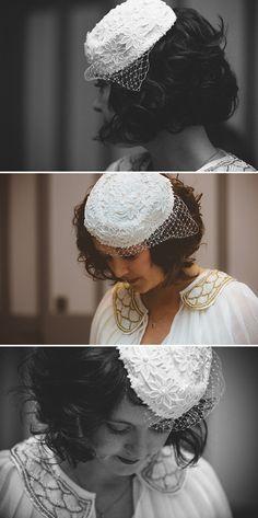 Jaunty pill box hat. From the Vintage Wedding Dress Company Storybook  Wedding 37ff6ec1418