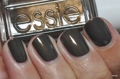 New favorite fall nail color: Essie Armed & Ready ♥this is too PRETTY! for when black isnt sparkly enough♥