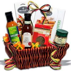 Springtime BBQ. The Barbecue Boss - BBQ Gift Basket  $59.99 #pintowingifts