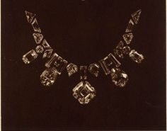 Diamond necklace by Mauboussin featuring the Porter Rhodes diamond, 1931.