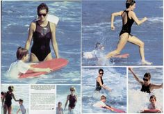 This article comes from my Hello magazine archives and is about Princess Diana's holiday in January 1993 on the Caribbean island of Nevis. Diana had a great time splashing among the waves with her boys, and showcased her different swimsuits and bikinis. *Click on each article to read in their full size *