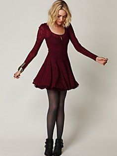 floral lace fit and flare dress/ boysenberry