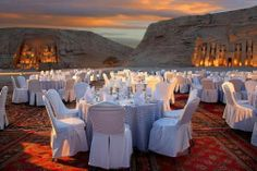 Abu Simbel Sightseeing Trips; Sound & Light Show at Abu Simbel temples, Egypt.