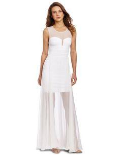 BCBGMAXAZRIA Women's Alai Banded Knit Dress with Crinkle Chiffon, White, X-Small BCBGMAXAZRIA,http://www.amazon.com/dp/B009LJ8Z58/ref=cm_sw_r_pi_dp_DlIZqb11S5ZJT3PZ