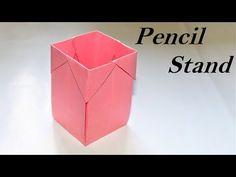 How to make an origami pen/pencil holder - easy origami - DIY paper crafts Paper Folding Crafts, Toilet Paper Roll Crafts, Paper Crafts Origami, Easy Paper Crafts, Diy Paper, Origami Pencil Holder, Origami Box, Origami Easy, Paper Crafts Magazine
