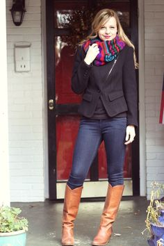 Work Clothes/Play Clothes (NOTE. Jacket is by Pink Martini (Via Stitch Fix) and jeans are by Kensie (Via Stitch Fix). I LOVE this outfit -- simple but put-together.)