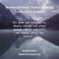 Here's the 1st of 6 tips on being more strategic. How many hours did you invest in your personal/business strategy over the last week? It should be your prime focus.