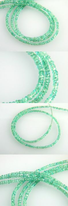 Stone 179273: Natural Untreated Colombian Emerald Faceted Rondelle Beads 3 - 3.1Mm - 7 Strand -> BUY IT NOW ONLY: $82 on eBay!