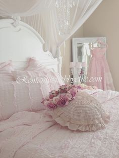 My Shabby Chic Home ~ Romantik Evim ~Romantik Ev: +Romantic shabby chic : pink shabby chic bedding...