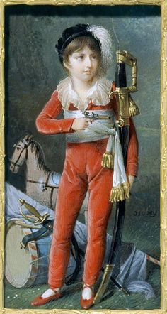 Jean-Baptiste Isabey, Oscar (I) as a child, c. 1805 Miniature, gouache on ivory