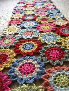 Japanese Flower Scarf | Four long rows, 46 flowers in total.… | Flickr