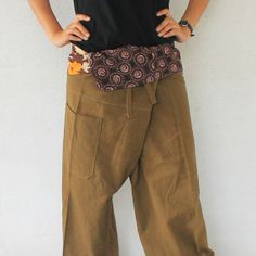 Patchwork inside foldover with olive green and 1 by meatballtheory, $15.00
