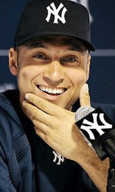 Derek Sanderson Jeter (/ˈdʒiːtər/; born June 26, 1974) is an American baseball shortstop who has played 19 seasons in Major League Baseball (MLB) for the New York Yankees. A five-time World Series champion, Jeter is regarded as a central figure of the Yankees during their success of the late 1990s and early 2000s due to his hitting ability, baserunning, fielding, and leadership. He is the Yankees' all-time career leader in hits (3,337), games played (2,621), stolen bases (348), and at bats…