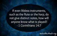 music notes and 1 corinthians 14:7