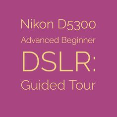 Nikon D5300 Advanced Beginner DSLR: Guided Tour | An in-depth look at Nikon's mid-range APS DSLR |