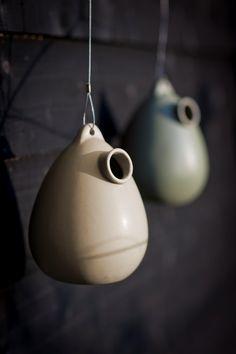 Ceramic Birdhouse - Clay