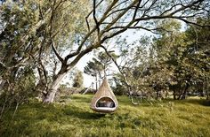 Would love a cool swing/nook in a garden somewhere