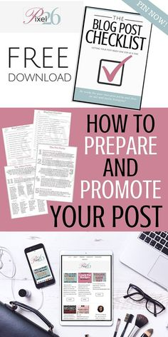 How to Prepare and Promote your Blog Post ~ Tons of great ideas!