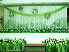 New #style  stage #green #wedding #decoration.  bit.ly/1WCmHt7