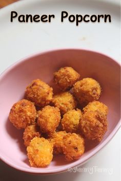 Paneer Popcorn Recipe - Popcorn Paneer Recipe - Yummy Tummy - This is my lil one's favourite snack. It is a paneer popcorn and it taste so yummy. Crunchy and s - Finger Food Appetizers, Appetizer Recipes, Snack Recipes, Cooking Recipes, Finger Foods, Cheese Recipes, Easy Veg Recipes, Easy Paneer Recipes, Baby Recipes