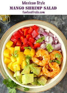 Mango Avocado Salad is a perfect summer salad loaded with spicy, flavoursome grilled shrimps. The combination of mango and avocado in a salad is a match made in heaven. Mango Avocado Salad, Mango Salat, Avocado Salad Recipes, Shrimp Avocado, Avocado Salat, Best Salad Recipes, Shrimp Salad, Delicious Dinner Recipes, Shrimp Pasta