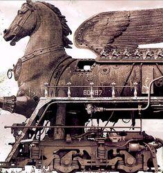 Dark Roasted Blend: The New Motor, or the Steam-Powered Messiah  (art by Vladimir Tsesler & Sergei Voichenko, Belorus)